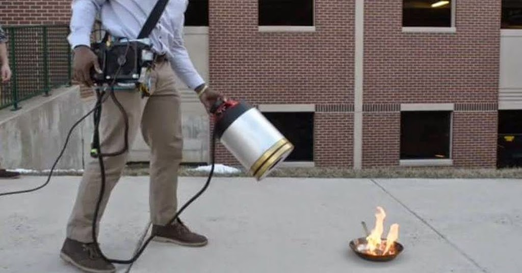 The Latest Fire Extinguisher Uses Nothing But Sound To Put Out Fire