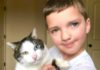 Different-Color-Eyed Boy Adopts A Cat With The Same Condition
