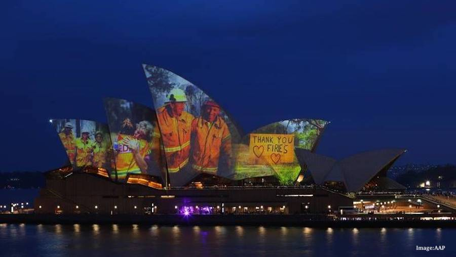 Australia Thanks The Brave Firefighters By Lighting Up Sydney Opera House Sales